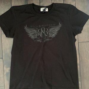 Rock & Republic Black on Black tshirt